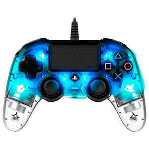 Mando Nacon Con Cable y Luz Azul - Licencia Oficial Sony