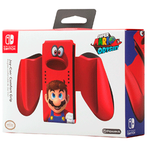 Comfort Grip PowerA Mario Odyssey para Joy-Con -Licencia oficial-
