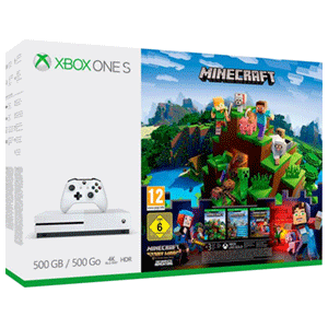 Xbox One S 500GB Minecraft Paquete De Favoritos