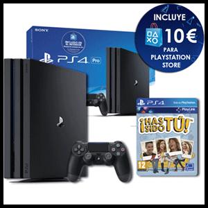 Playstation 4 Pro 1Tb + Voucher 10€ PSN + Has Sido Tú! Voucher
