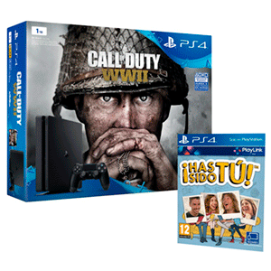 Playstation 4 Slim 1Tb + CoD WWII + Has Sido Tú!