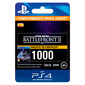 Star Wars Battlefront II: 1000 Crystals PS4