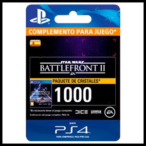 Star Wars Battlefront II: 1000 Crystals PS4