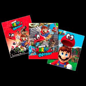 Pack de 3 Tarjetas Mario Odyssey Metallic Print