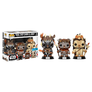Pack de 3 Figuras Pop Star Wars: Teebo, Chirpa y Logray