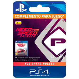 Need For Speed Payback 500 Speed Points PS4