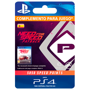 Need For Speed Payback 5850 Speed Points PS4