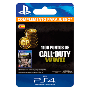 Call of Duty WWII 1100 Points PS4