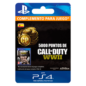 Call of Duty WWII 5000 Points PS4