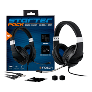 Starter Pack Indeca (Auricular + Cable Carga Dual + Grips)