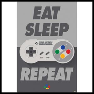 Póster Nintendo SNES  Controller