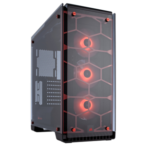 Corsair Crystal 570X RGB Roja - Cristal Templado