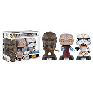 Pack de 3 Figuras Pop Star Wars: Tarfful, Emperador y Utapau Trooper Ed. Limitada