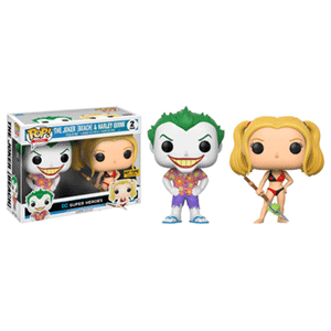 Pack de 2 Figuras Pop DC: Beach Joker & Harley Ed. Limitada