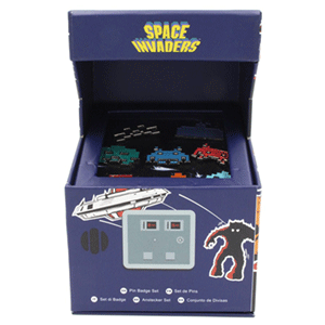 Space Invaders Arcade Pin Badge Set