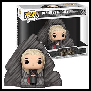 Figura Pop Juego de Tronos: Daenerys en Trono Dragonstone