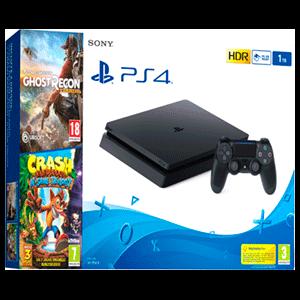 PlayStation 4 Slim 1TB + Ghost Recon Wildlands + Crash Trilogy
