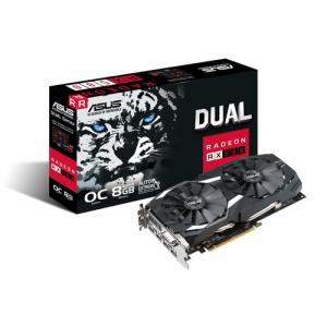 ASUS Dual Radeon RX 580 OC Gaming 8GB GDDR5 - Tarjeta Gráfica Gaming