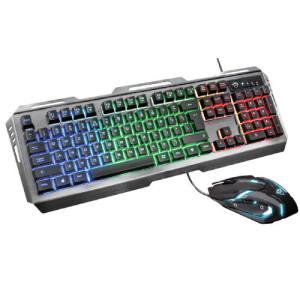 Trust GXT 845 Tural Teclado+Ratón LED Multicolor - Pack Gaming