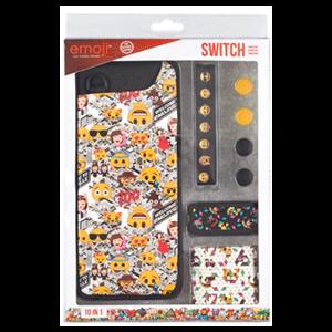 Kit 10 Accesorios Nintendo Switch Emoji 2018
