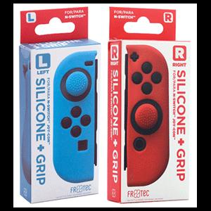 Pack Fundas Silicona roja + azul para Joy-Con FR-Tec