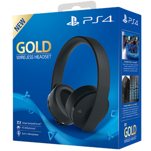 Auriculares Wireless Headset Sony - Gold - Auriculares Gaming