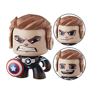 Figura Mighty Muggs Marvel: Capitán América