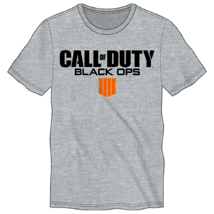 Camiseta CoD: Black Ops 4 Gris Logo Talla XL
