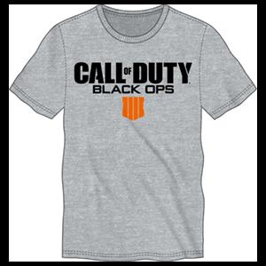 Camiseta CoD: Black Ops 4 Gris Logo Talla XXL
