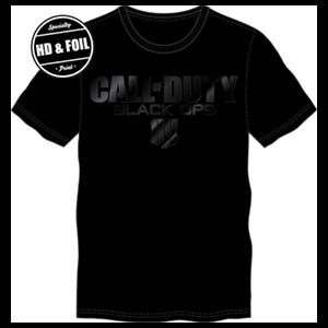 Camiseta CoD: Black Ops 4 Negra Logo Foil Talla L