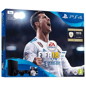 Playstation 4 Slim 1Tb + FIFA 18 + Dualshock 4 V2