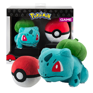 Peluche Pokemon: Bulbasaur con Poke Ball
