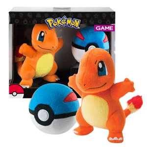 Peluche Pokemon: Charmander con Super Ball