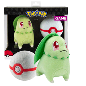 Peluche Pokemon: Chikorita con Honor Ball