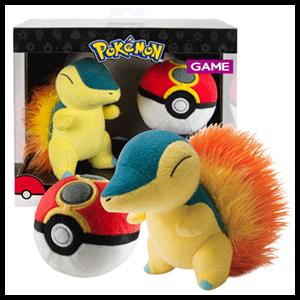 Peluche Pokemon: Cyndaquil con Acopio Ball