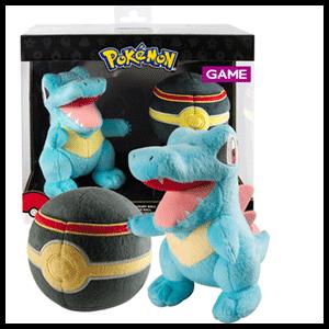 Peluche Pokemon: Totodile con Lujo Ball