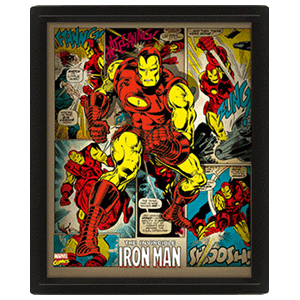 Cuadro 3D Marvel: Iron Man Retro