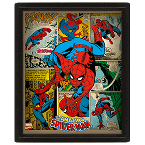 Poster 3D Marvel: Spider-Man Retro