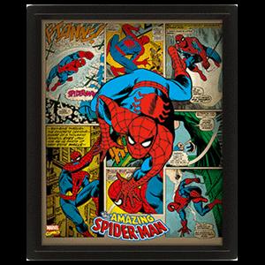 Cuadro 3D Marvel: Spider-Man Retro