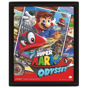 Poster 3D Super Mario Odyssey