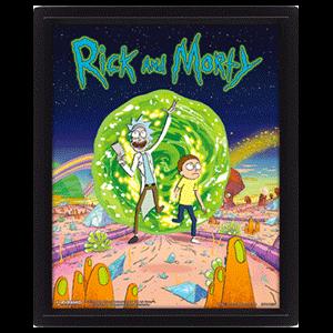 Cuadro 3D Rick & Morty: Portal