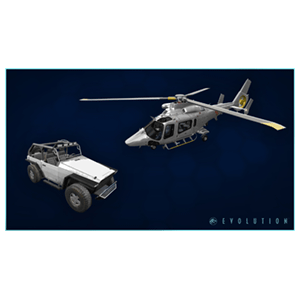 DLC Skin helicóptero ACU y el vehículo Ranger XONE