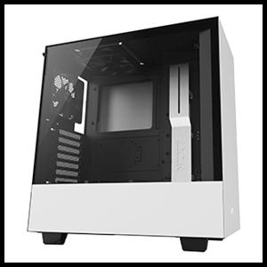 NZXT H500 Blanca/Negra - Cristal Templado