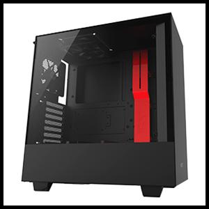 NZXT H500 Negra/Roja - Cristal Templado