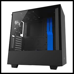NZXT H500 Negra/Azul - Cristal Templado