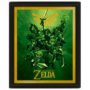 Cuadro 3D The Legend of Zelda: Link