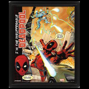 Cuadro 3D Marvel: Deadpool