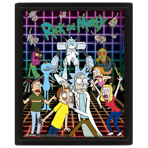 Poster 3D Rick y Morty: Personajes