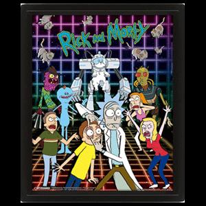 Cuadro 3D Rick y Morty: Personajes