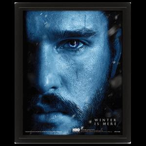 Cuadro 3D Juego de Tronos: Jon Snow y Rey de la Noche